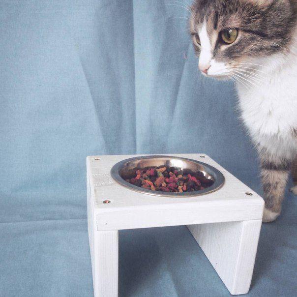 Подставка деревянная на 1 чашку. Мебель для домашних животных ZOSIM