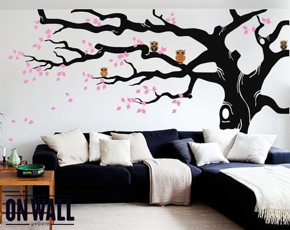 Large Tree Wall Decals Trees Decal Nursery Tree by ONWALLstudio, $128.00