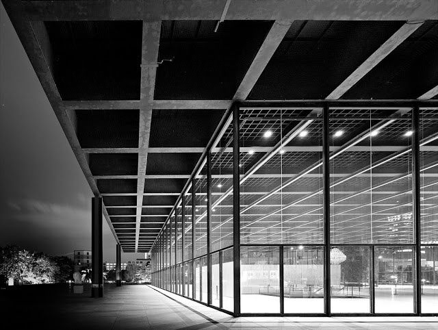 New National Gallery Berlin, Germany by Ludwig Mies van der Rohe