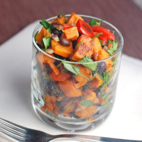 sweet potato salad - it's sweet potato, so it's gotta be better than regular potato, and I get my potato fix. I should very much like to try this.
