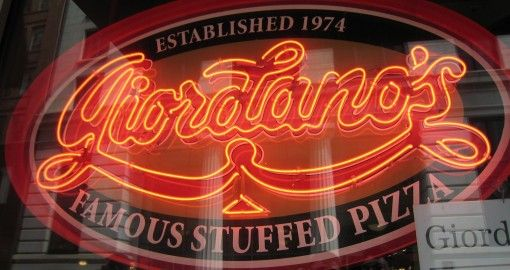 Giordano's-Chicago, Illiniois. Home of the best deep dish pizza on the planet.