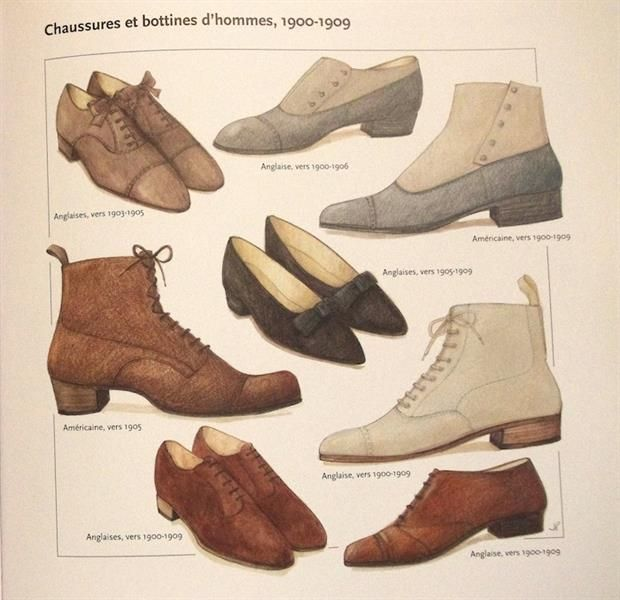 Обувь 19 века с пряжками
