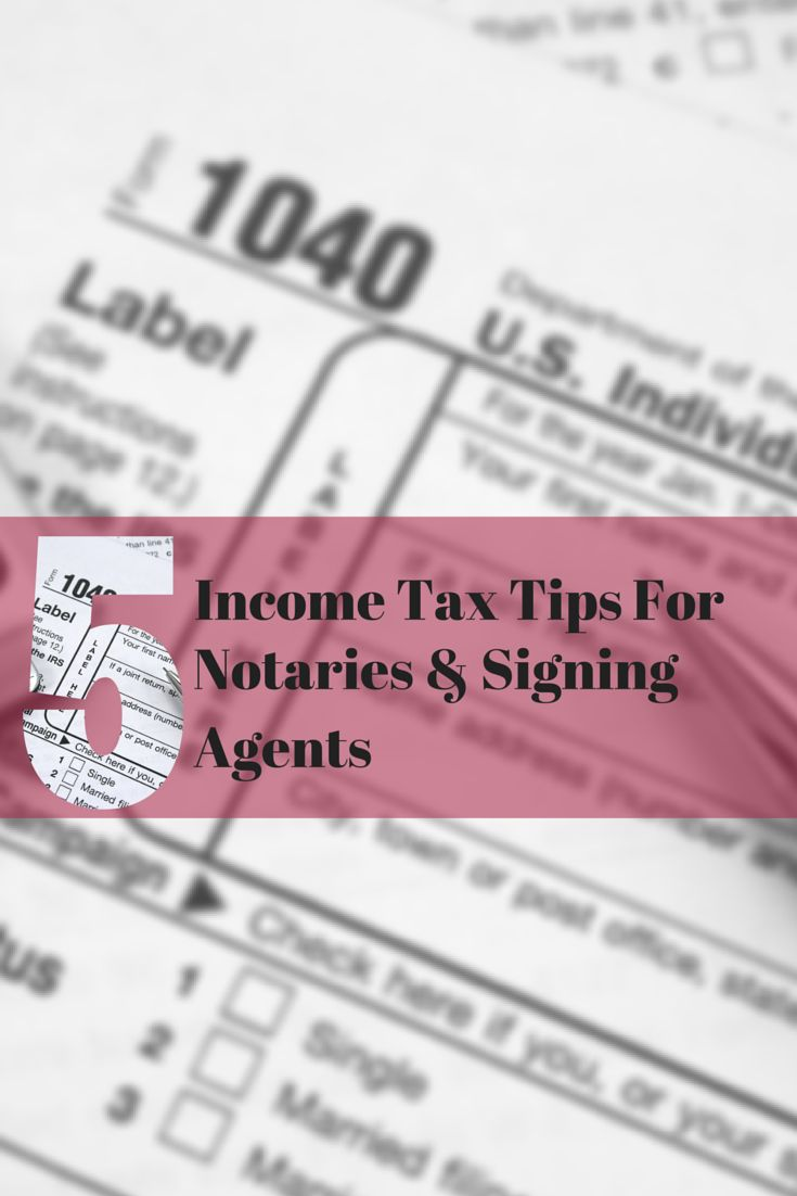 Do Mobile Notaries need to pay self-employment tax? Can you claim a home office deduction this year?