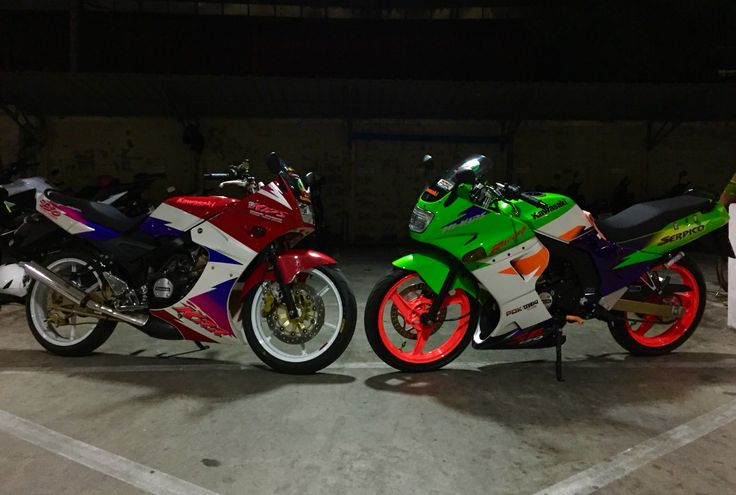Kawasaki Serpico 150 cc special edition 1998&Kawasaki KR 150 cc special 1998