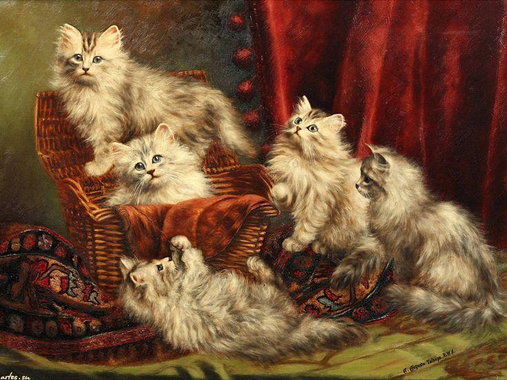 Скачать обои животные, пушистые котята, Agnes Augusta Talboys 1600x1200