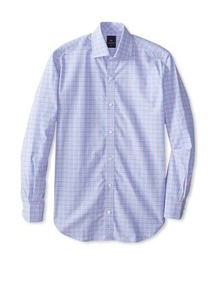 55% OFF TailorByrd Men's Bolo Long Sleeve Checked Classic Sportshirt (Peri Blue)
