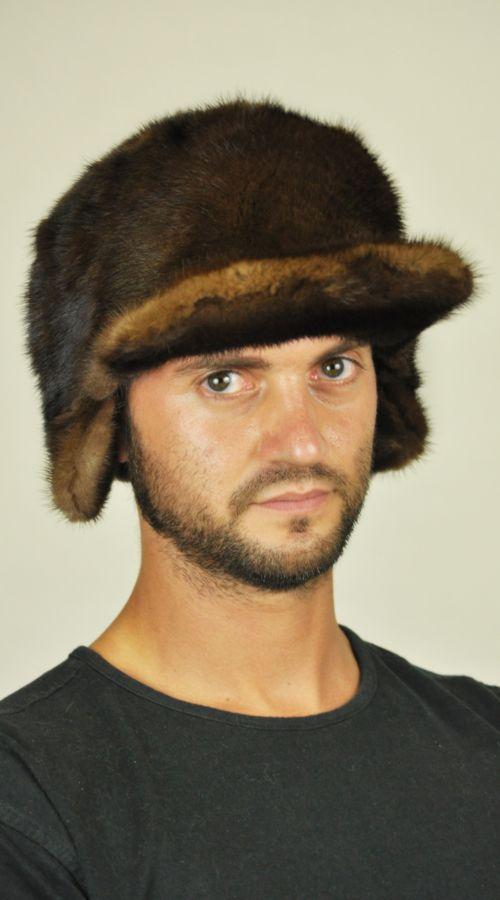 Cappello visone con visiera. http://www.amifur.com