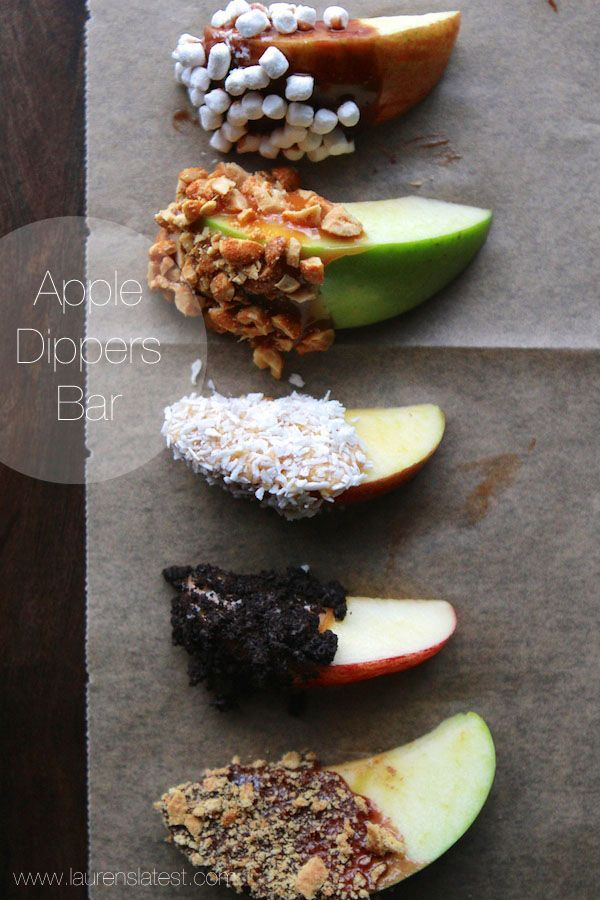 Apple Dippers Bar by laurenslatest #Snacks #Apple_Dippers #Healthy
