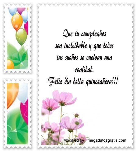 descargar textos bonitos para quinceañera para Whatsapp,mensajes de texto para quinceañera: http://www.megadatosgratis.com/palabras-para-el-brindis-de-quince-anos/