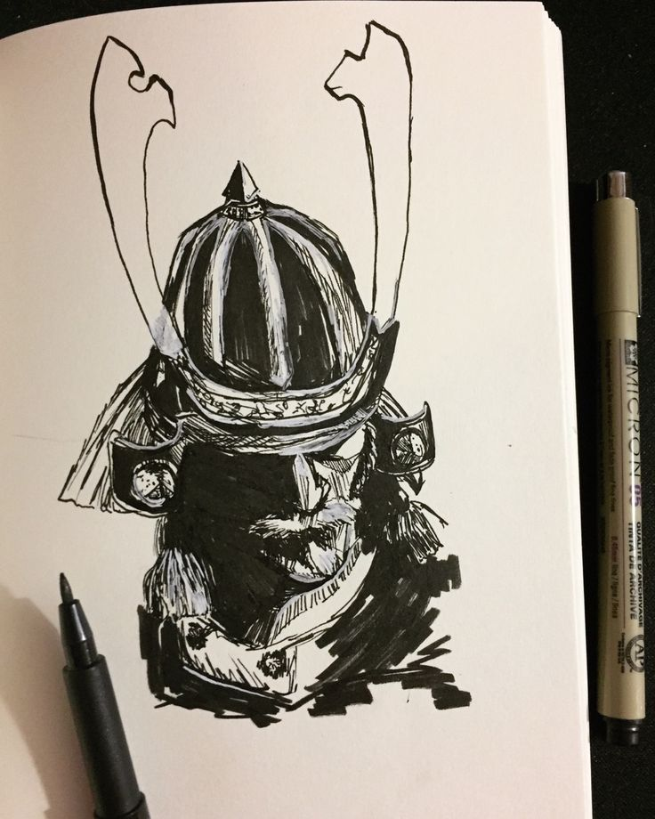 fooligans:  Posted this to my Twitter and forgot to put it here  Just some straight ink sketching For Honor samurai goodness. Kensei for honor