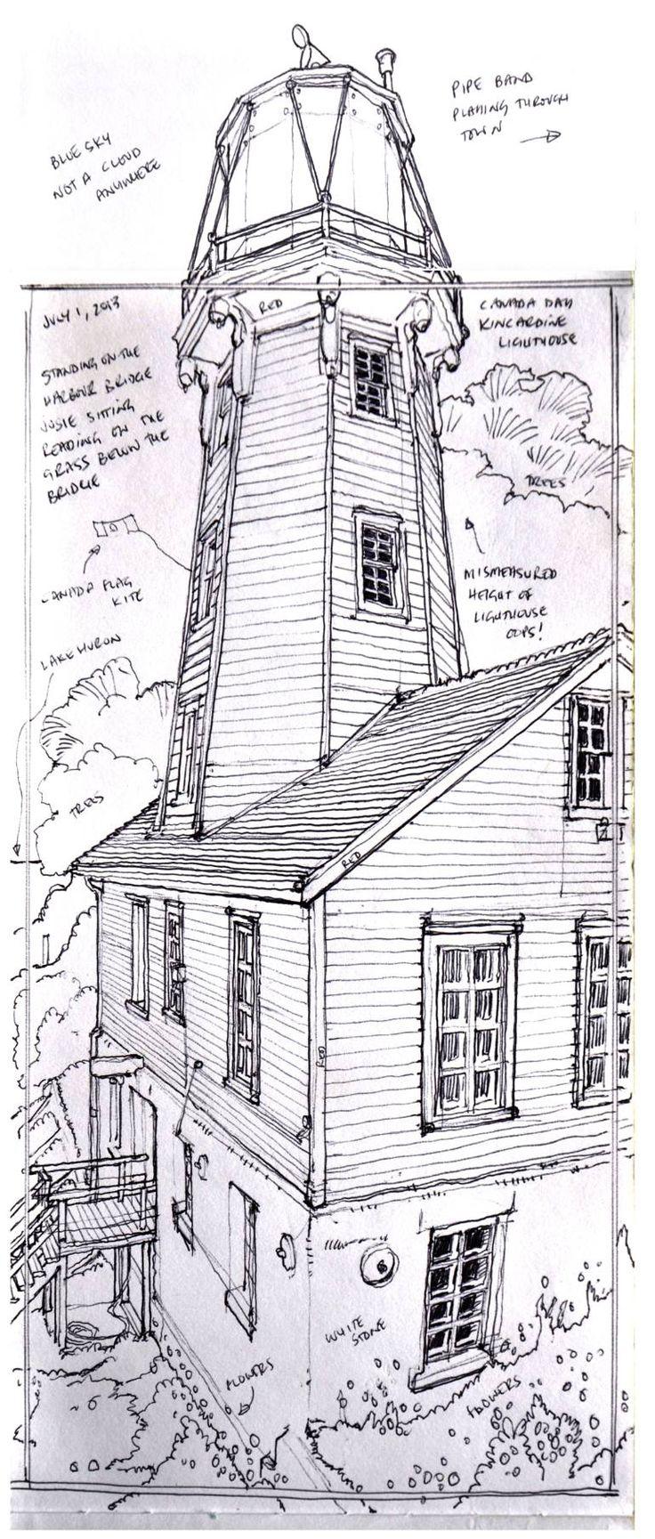 "Saatchi Art Artist Richard Johnson; Drawing, ""Kincardine lighthouse"" #art"
