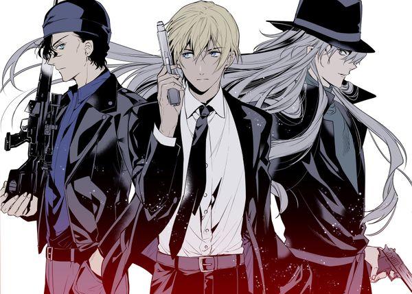 Akai Shuichi, Amuro Tooru, Gin