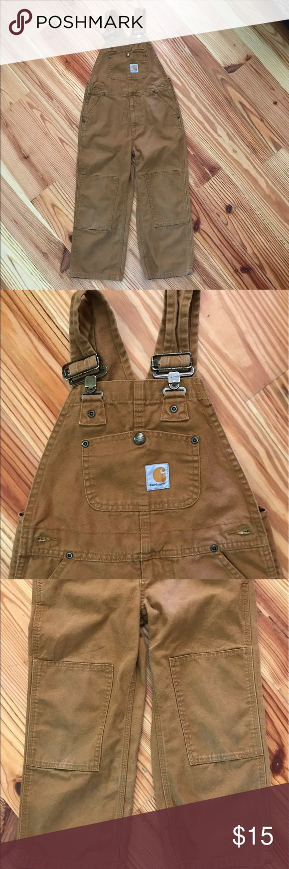 Carhartt Bibs Boys Carhartt Duck Washed overall bibs in very good condition. Brown in a size 6. Carhartt Other