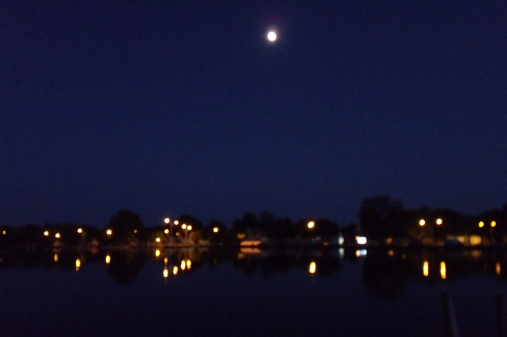 """""""Mr. Moon""""   on a cloudless """"Nite""""  over the River"""