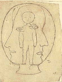Louise Bourgeois - Untitled, pencil on paper, 1940