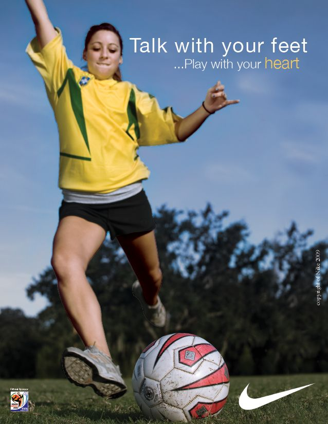 I can't help but to think every time I see an ad of someone playing soccer that they are probably TERRIBLE soccer players