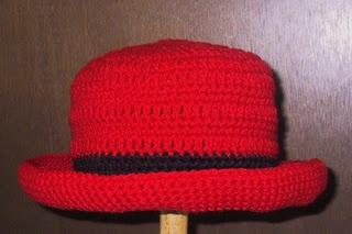 Free Crochet Roll Brim Hat Pattern.