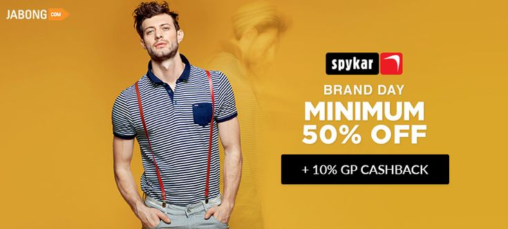 Minimum 50% Off on Jabong Spykar.