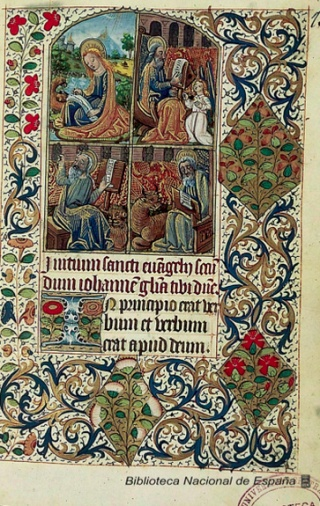 Libro de Horas. Manuscrito Iluminado, de la Biblioteca Nacional de España
