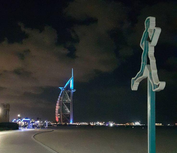 To the moon and back 🏃♂️ #dubai #burjalarab #capturingmoments #uae #abudhabi #travel #7yrs #runningtrack #jumeirah