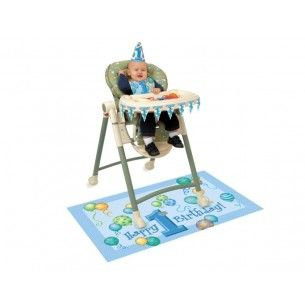 Blue High Chair Decoration Kit