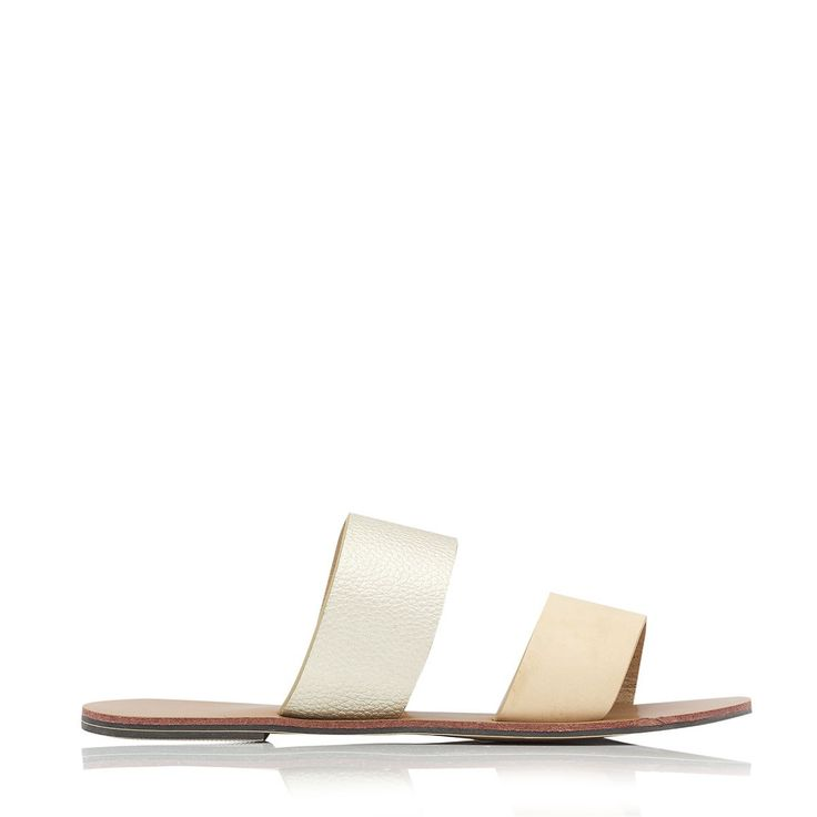 BILLINI - Cuban Sandal - Nude/Gold Pebble