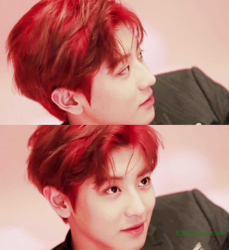 #Chanyeol's red hair. It suits him so well. #EXO Be sure to check out our bio link for more EXO news/photos/etc