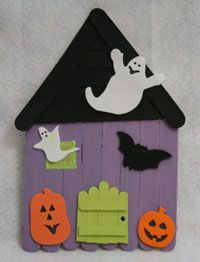 haunted house craft popsicle stick haunted house craft let your ones 2161