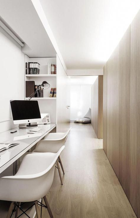 Hallway office ideas Design Ideas Interior Design Idea 13 Examples Of Desks In Hallways Soft Lighting From Above Diffuses Throughout The Hallway That Houses Thu2026 Home Office Ideas In Pinterest Interior Design Idea 13 Examples Of Desks In Hallways Soft