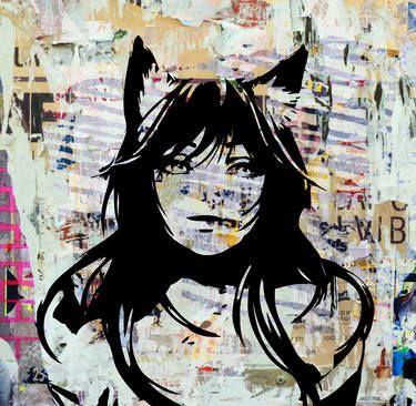 """Cat Woman,"" original portrait photography by artist Paslier Morgan (France) available at Saatchi Art #SaatchiArt"