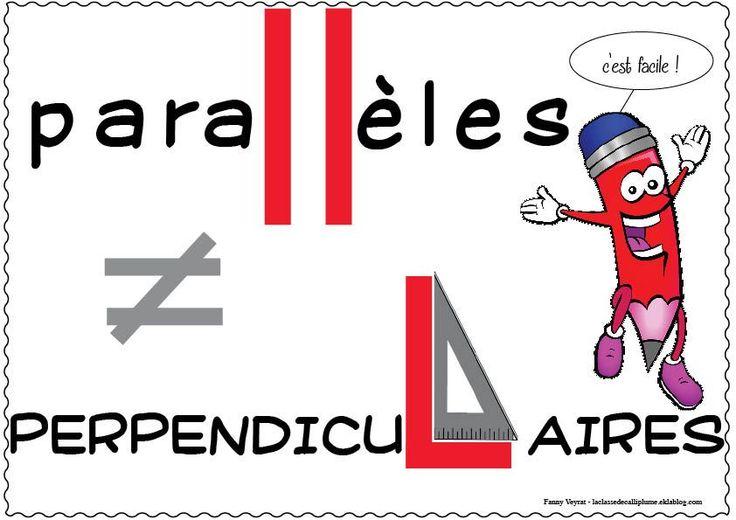 Affichage droites perpendiculaires / parallèles - la classe de Calliplume