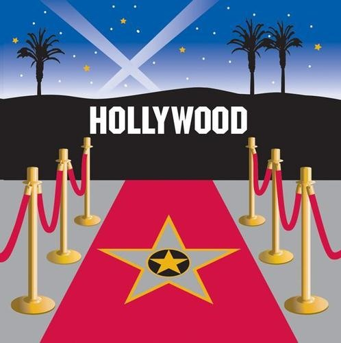 Hollywood/Movie Night Theme Party - Red Carpet Napkins 3 ply x 16