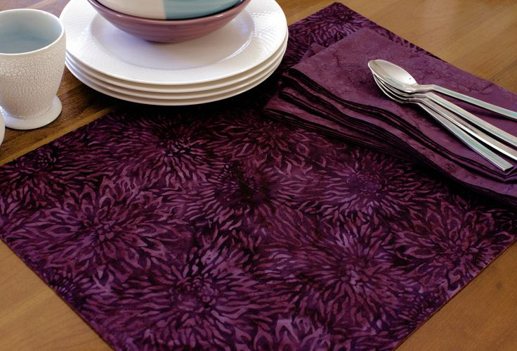 Looking for contemporary placemats? You'll love these reversible batik fabric placemats! They're great for everyday dining, dinner party decor, and gifting to friends and family!