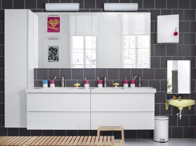 25 best ideas about double vasque on pinterest double for Vanite salle de bain ikea