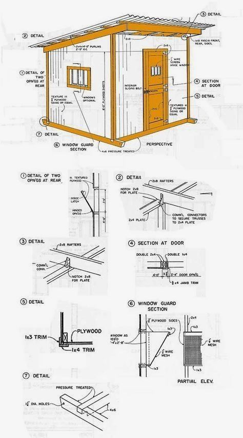 Easy Shed Plans 10x12 Diyproject Shedplansdiy Shed Plans In 2019