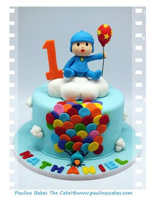 "PAULINE BAKES THE CAKE!: Hola! It's Pocoyo ""Up, Up & Away With Balloons!"""