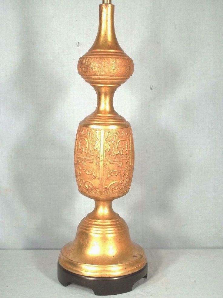 MONUMENTAL MID CENTURY MODERN JAMES MONT GILT METAL ASIAN