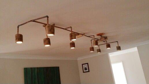 Copper pipe/log LED light - Luke de Hoog