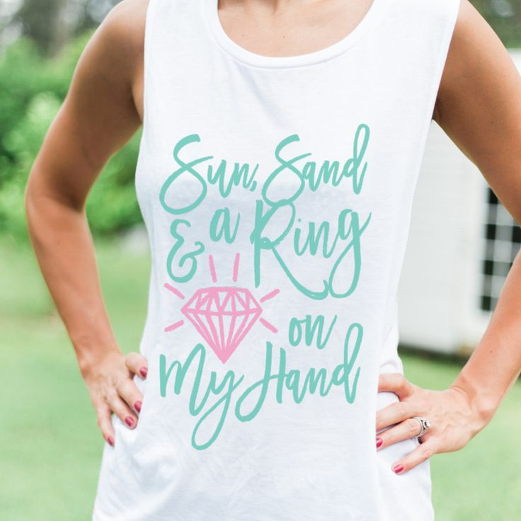 These cute bridal party tank tops are perfect for the bachelorette getaway or for the bridal party to wear leading up to the wedding. Choose your color combo to match your wedding style. The slub styl