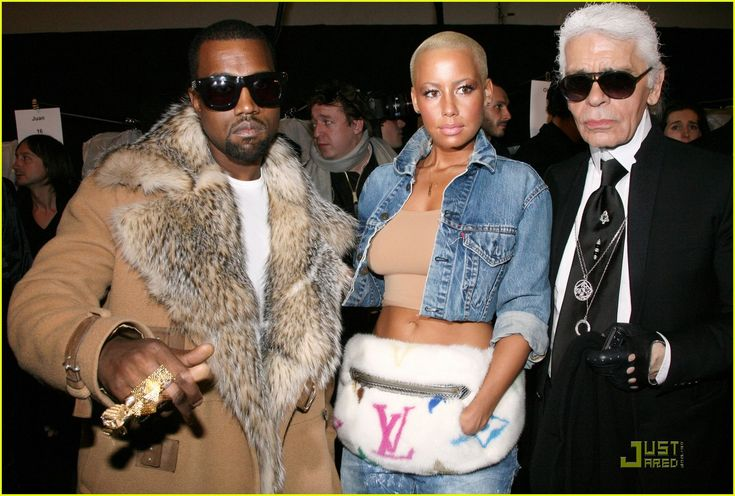 kanye and amber rose pictures | Kanye West & Amber Rose: Fashion Furballs!