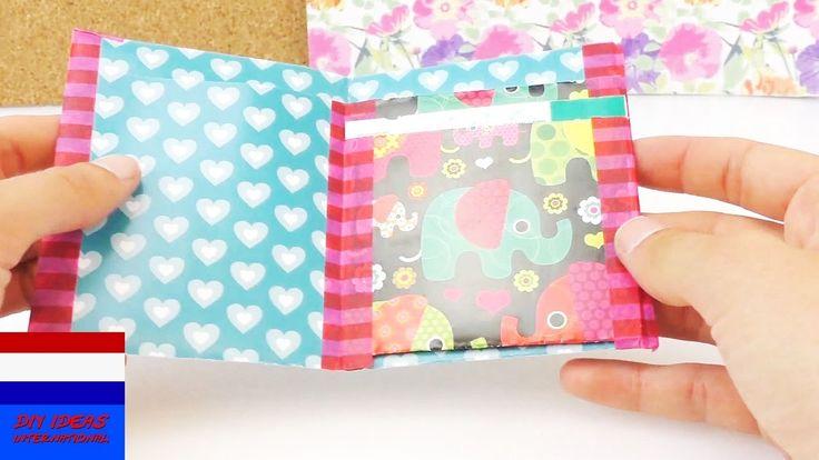 Portemonnee vouwen van papier / eigen portemonnee knutselen / DIY wallet