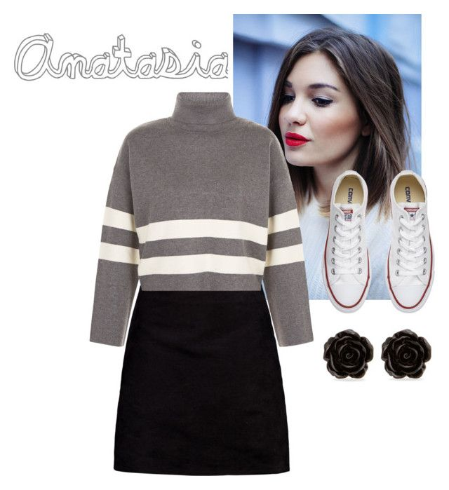 fleur 3 by carameldazzle on Polyvore featuring New Look, Boohoo, Converse and Erica Lyons