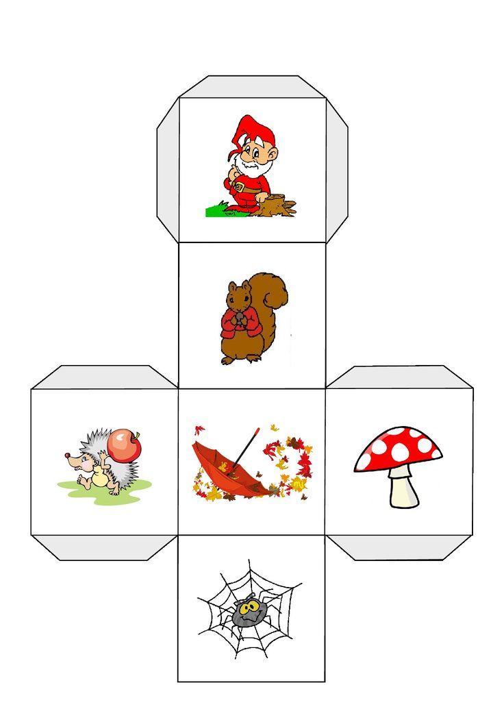 * Verteldobbelsteen: Verschillende spel mogelijkheden... -vertellen-woorden met dezelfde letter-liedje....