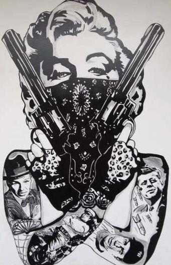 Gangster Marilyn Monroe Tattoo Design photo - 1