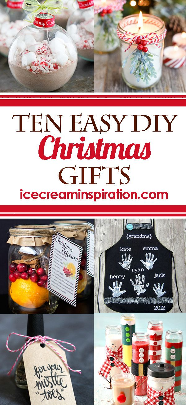 10 Easy Diy Christmas Gifts That You Can Make Quickly And Inexpensively Cute Clever Ideas Pinterest