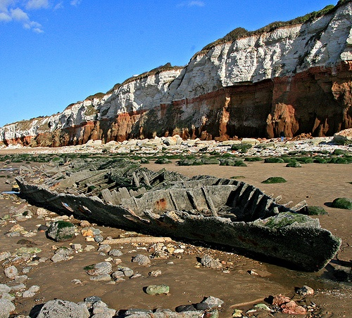 Shipwreck on Hunstanton Beach