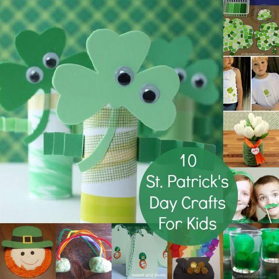 10 St. Patrick's Day Crafts For Kids! #Crafts #DIY