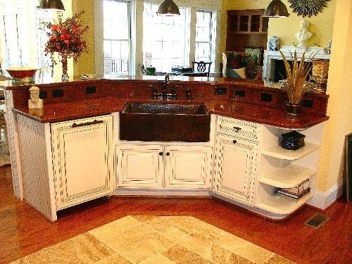 Image result for red countertop kitchen