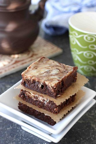 Irish Cream Cheesecake Marbled Fudge Brownies | Cookin' Canuck