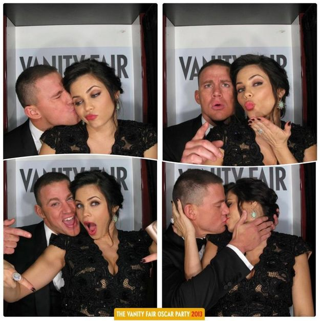 When Channing Tatum and Jenna Dewan-Tatum produced the most adorable photo booth pictures of all time. | 38 Times Celebrity Couples Gave Us Intense Relationship Goals